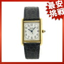CARTIER mast tank LM watch leather men