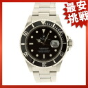 ROLEX16610 Submariner date watch SS men