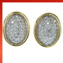 SELECT JEWELRY diamond earring K18 Gold / Platinum ladies