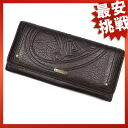 CELINE leather long wallet wallet
