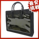 R26 bamboo handle handbag with leather unisex