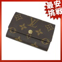 LOUIS VUITTON key holder 6 Monogram M62630 key holder key holder 6 Monogram Canvas unisex