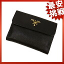 PRADA logo 2 fold wallet ( purses and ) Leather Womens