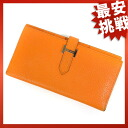 HERMES ベアン long wallet (there is a coin purse) leather Lady's fs3gm