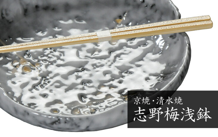 釉薬がつくるポッテリ感と梅のモチーフが愛らしい 志野梅浅鉢