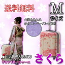 Suitcase cherry pattern Sakura Sakura HIDEO WAKAMATSU Hideo Wakamatsu floral print four wheel TSA lock 62 cm medium M size for 10P13oct13_b