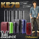 Medium M size trunks carry case travel bag EMINENT TSA fastener suitcase 'KE79'