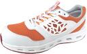 10P20Sep14 air squash #19CBS white / orange safety sneaker HyperV AIR SQUASH #19CBS (Nisshin rubber) Hyper V 24.5 cm-29 cm