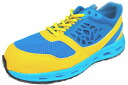 Air squash # 19CBS security sneakers blue / yellow HyperV AIR SQUASH#19CBS (Nisshin Rubber) hyper V 24.5cm - 29cm