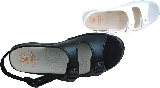 护士沃克凉鞋纯[办公7611]