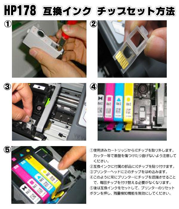 hp178 互換インクのチップセット方法