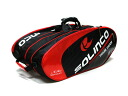 SOLINCO (Sorin com) racket bag (12 book storage model) black * red x white SOLINCO-12-BKRD--