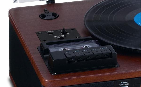 TEAC LP-R550USB-WA 木目調 ターンテーブル/カセット付きCDレコーダー USB接続部