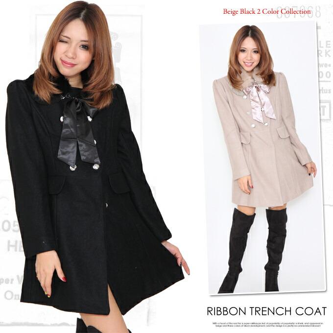 大きいサイズ レディース コートドレスコート Aライン 上品 アウター 黒 ブラックカーキ 女性 冬 可愛い