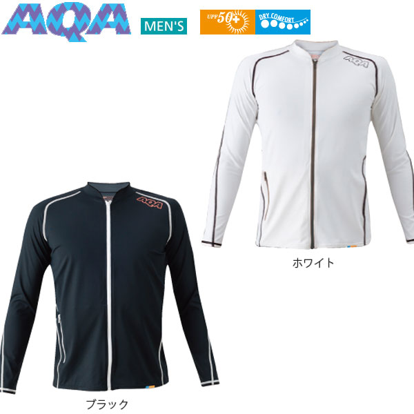 AQA(エーキューエー)ラッシュガードUVDRYスイムジップロングIIIKW-4451A【メンズ】(送料無料)