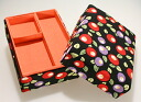 With a child seat sewing box Camellia black sewing gift / gifts / sewing boxes and, Kyoto Japanese goods / / Japanese-style storage box / wristlet