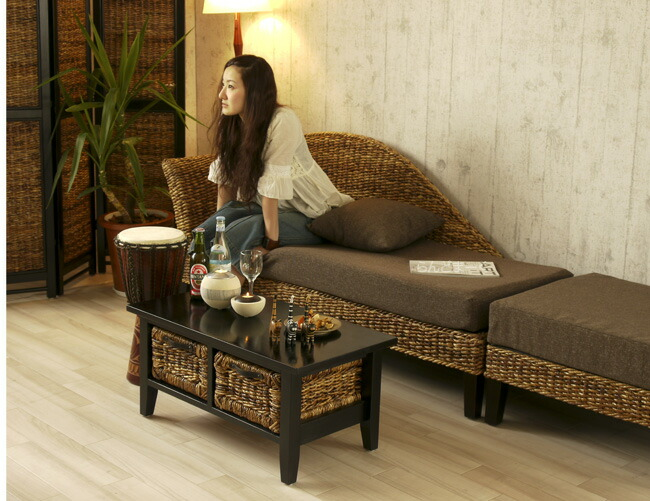 【楽天市場】アジアン家具 バナナリーフ オットマン バリ リビング ウォーターヒヤシンス アバカ