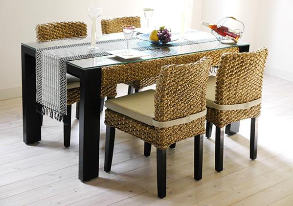 アジアン家具 ウォーターヒヤシンス ダイニングテーブル