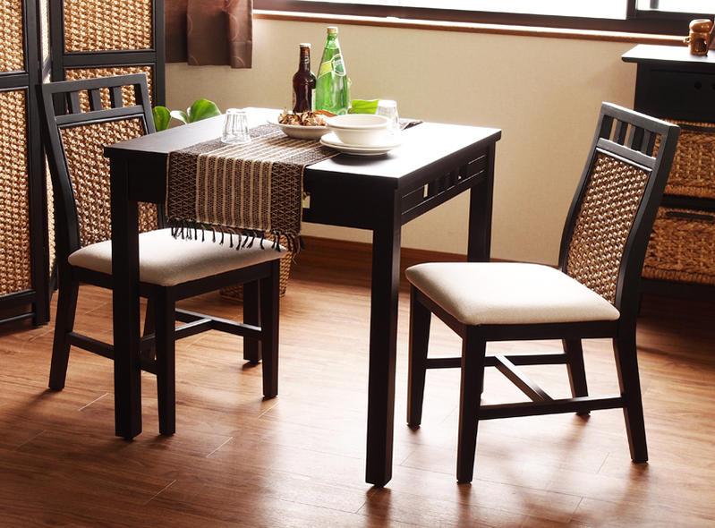 天然木アジアンダイニングテーブル