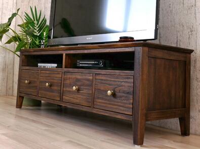 アジアン家具 大人気チーク無垢木製のこだわりのテレビ台
