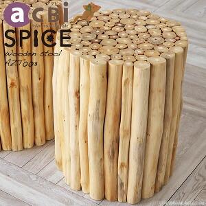 オシャレな木製デザインサイドテーブル スツール