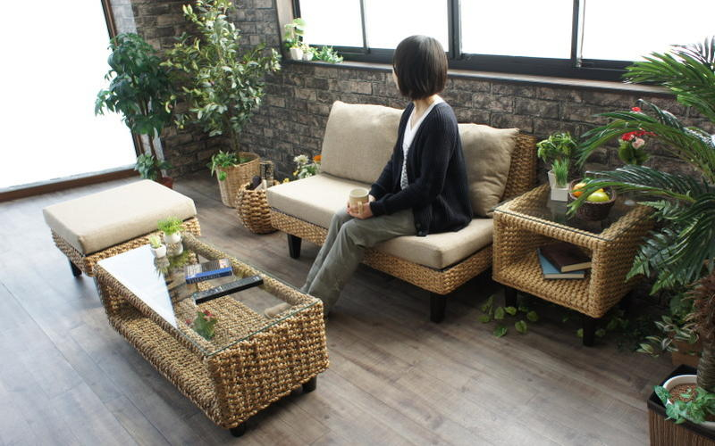 アジアン家具 ウォーターヒヤシンステーブル ランドマーク KAGLAB アジアン リゾート