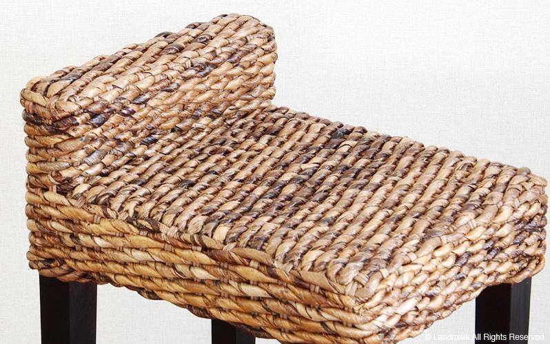 バナナリーフ アバカ を編みこみつくられたアジアンエスニックなインテリア