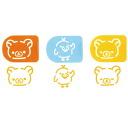Sprinkle plate 3 set LS-3 ★ ボンジュールリラックマ series ★