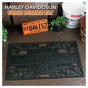 ★HARLEY-DAVIDSON ★ Harley-Davidson / bar & shield rubber mat ★ doorstep ★ floor mat ★ U.S.A. miscellaneous goods ★ American miscellaneous goods ★ candy miscellaneous goods ★ candy is sloppy