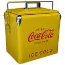 ★Coca-Cola ★ picnic storage / yellow ★ air conditioner box ★ cold insulation box ★ U.S.A. miscellaneous goods ★ American miscellaneous goods ★ candy miscellaneous goods ★ candy is sloppy