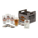 Harley-Davidson PRE-LUXE oil perception pint glass / crate (wooden box) set HDL-18709 beer glass bur grass American motorcycle motorcycle