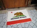 California lit public garage Matt cotton mat door mat