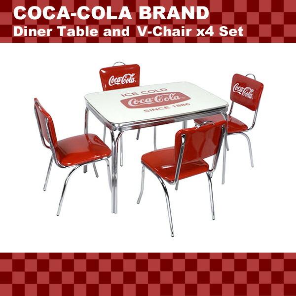 Lavieen rakuten global market american diner coca cola brand coca cola brand dinner table - Coca cola table and chairs set ...