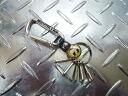 """Mooneyes """"moon Eyes, American metal hook key ring (black) karabiner and keychain hot rod key key car custom"""