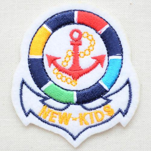エンブレムワッペン New Kids ニューキッズ(アンカー/ホワイト) EMW-002