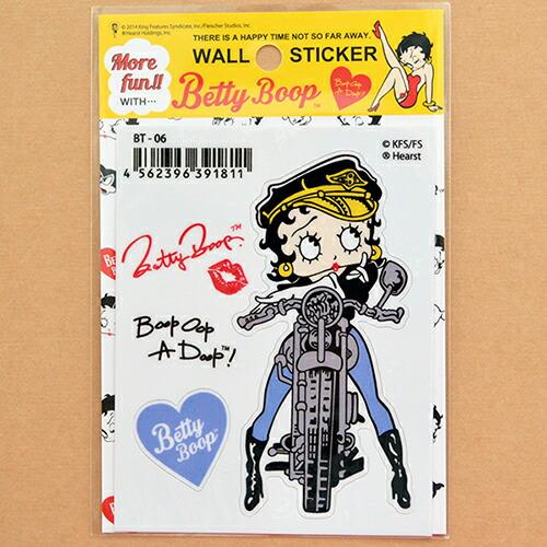 ステッカー/シール ベティブープ Betty Boop(バイカー) BT-06