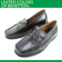 ● UNITED COLORS OF BENETTON 049 [BET0490] ladies loafer 3E black