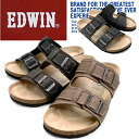 Men's Sandals EDWIN EW9128 footbed Sandals men's casual sandals-