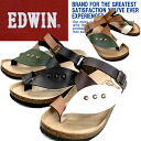 Men's EDWIN EW9164 and footbed Sandals thong Sandals for men casual sandals-