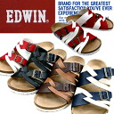 Men's Sandals EDWIN EW9165 footbed Sandals men's casual Sandals-[fs3gm]