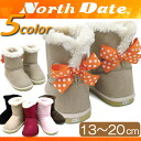 Mouton boots baby kids child north date child shoes baby kids boots [13cm/14cm/15cm/16cm/17cm/18cm/19cm/20cm] with the kids boots mouton boots kids north date [JB870/JB880] north date ribbon ●