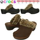 Crocs cobbler fuzz clog women crocs cobbler fuzz clog w 16288 heel with faux fur clog style ladies-