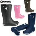 Crocs women's rain boot length shoes clock band ジョーント Womens crocs crocband jaunt women's 10970 women's lightweight 4 colors black boobs giggle-[fs3gm]