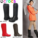 Crocs women's head shoes long rain boots rainflow boots crocs wellie rain floe boot w 12,424 black boobs giggle Christmas stocking women's boots-