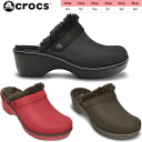 -Crocs ladies Sandals Sabot cobbler バフド Linda clog crocs cobbler buffed lined clog 15373 women's lightweight black boobs giggle's fatigue sandal