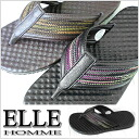 A product made in Japan! Men's tong sandals! ● ELLE HOMME EH1707 [エルオム] [107JDJE-21rphd]