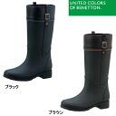 Ladies long length lightweight rain boots Benetton UNITED COLORS OF BENETTON B-009 / BTB-0090 rain boots galoshes Jockey type rubber boots 1