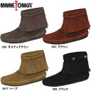 ●Mine Tonka moccasins Lady's boots regular article high-top back zip boots MINNETONKA HI TOP BACK ZIP BOOT 293/292/299/297T Moccasin fringe woman business regular dealer
