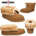 Minnetonka moccasin women's genuine Sheepskin ankle boots slippers MINNETONKA Sheepskin Ankle Boot Slipper Indoor shoes leather suede ladies ladies-