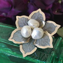 Good large Baroque Freshwater Pearl brooch chest colorful products